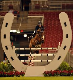Great shot of Richard Spooner and Cristallo - very cool jumper jump too! #charleighscookies #jumperland #equestrian