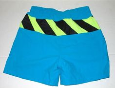 Neon Caution Tape Volleyball Shorts 80s ($50) - awesome men's swimsuit :)