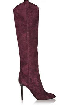 Tamara Mellon Crazy Ride suede knee boots | NET-A-PORTER