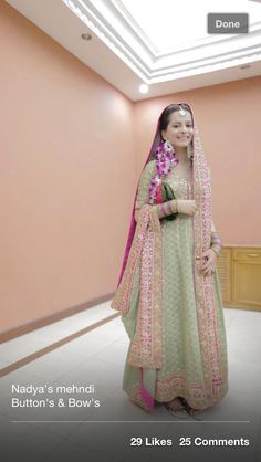 Mint Green Pakistani bride