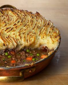 "Recipe | Comforting Shepherd's Pie ~ Loaded with meat and veggies, and topped with mashed potatoes, Shepherd's Pie is the ultimate comfort food. A staple of Irish cooking, this ""made-from-scratch"" casserole is also known as Cottage Pie. #Saint Patrick's Day #favorite"