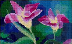 floral free cross stitch pattern download