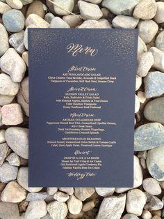 Wedding Menu black and gold flecks with by DesignsByRobynLove, $2.75