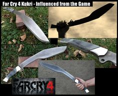 Our This large Kukri is influenced from the one used in the game Far Cry 4.  Historically, the Kukri was issued to the Gurkha Officers in India and regularly trained in its use. It was used in combat in both World War I and World War II, where it earned a deadly reputation among enemy forces.