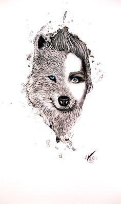 Half And Half human,wolf
