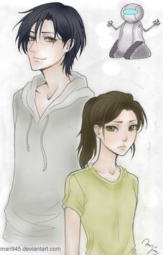 Lunar Chronicles: Prince Kaito, Cinder and Iko by Mari945