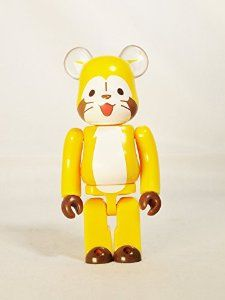 Medicom Toy Be@rbrick BEARBRICK 100% Series 30 Cute Japanese Nippon Animation Rascal the Raccoon Normal Version Orange Yellow