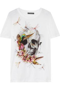 Alexander McQueen|Printed cotton T-shirt|NET-A-PORTER.COM