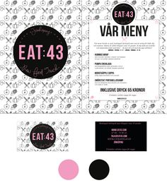 CASE: Logotype, colors, typography, menu and a businesscard for a fictional rawfoodtruck.