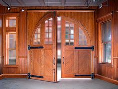 Restored doors, Aurora IL Central Station, now a museum of firefighting.