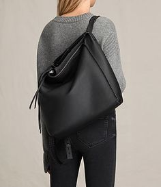 Kita Leather Backpack – Just Lookin… – alternative Black Leather Backpack, Leather Vest, Cow Leather, Pebbled Leather, Leather Bags, Chanel Canvas, Green Cargo Pants, Backpack Straps, Luggage Bags