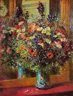 Pierre Auguste Renoir - Bouquet in front of a Mirror 1877