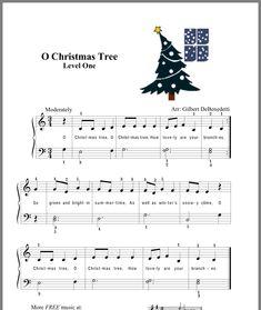 O Christmas Tree Popular Piano Sheet Music, Christmas Piano Sheet Music, Easy Piano Sheet Music, Music Sheets, Easy Guitar Songs, Piano Songs, Piano Lessons For Kids, Music Lessons, Christmas Songs Lyrics