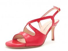 Gioia - Red Leather (7cm, 8cm, 8.5cm) Madame Pivot