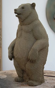 bear sculpture by Michael Keropian he specializes in sculpting and has done it for over 30 years!