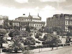 Teatro Municipal e Parque do Anhangabaú (atual praça Ramos de Azevedo), 1925.