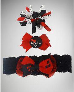 Harley Quinn Infant Hair Clip Set - Spencer's