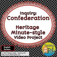 Canadian Confederation Video Project (English Version) This Confederation… 8th Grade History, High School History, Study History, Ontario Curriculum, Social Studies Curriculum, Canadian Confederation, Middle School Drama, Video Project, Higher Order Thinking