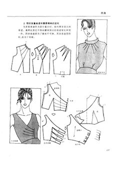 The best DIY projects & DIY ideas and tutorials: sewing, paper craft, DIY. DIY Women's Clothing : Chinese method of pattern making- Darts on a bodice - Svet Lana - Picasa Albums Web -Read Techniques Couture, Sewing Techniques, Pattern Cutting, Pattern Making, Dress Sewing Patterns, Clothing Patterns, Sewing Clothes, Diy Clothes, Sewing Hacks