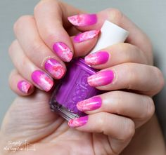 Simply Nailogical: Pink and purple clouds
