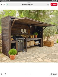 Outdoor Grill Area, Outdoor Grill Station, Outdoor Kitchen Patio, Outdoor Kitchen Design, Outdoor Rooms, Outdoor Living, Backyard Patio Designs, Backyard Landscaping, Bbq Shed