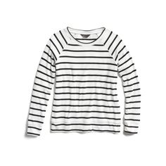 Stitch Fix Spring Stylist Picks: Black and white striped casual knit pullover