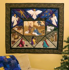Nativity quilt Christmas sewing pattern