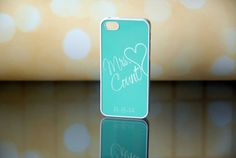 Minty Teal Blue  Mrs Monogram  Wedding Date Silicone by hhprint, $19.49