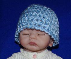 Preemie Baby Beanie Free Crochet Pattern
