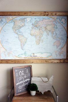 pin board travel map
