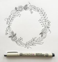 "I'm back with my third post in the ""How to Draw"" series. (You can view the first two here and here.)  I love drawing wreaths but I find myself feeling really overwhelmed when I sit down to draw one. Where do I start? What do I draw? Too sparse? Too full?    Ok, well I'm breaking it down step by step today so if you're like me, you won't be overwhelmed any longer. But before we go any further, download your worksheet here.  Your worksheet shows you the collection of botanical elements in…"
