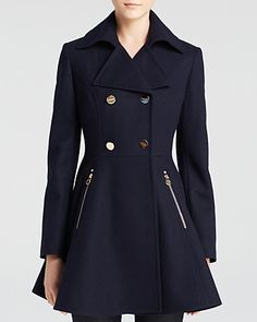Laundry by Shelli Segal Skirted Wool Coat (on sale at bloomingdales)