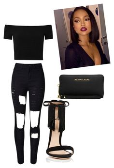 """""""party"""" by dressyour-personality on Polyvore featuring Alice + Olivia, Gianvito Rossi and Michael Kors"""
