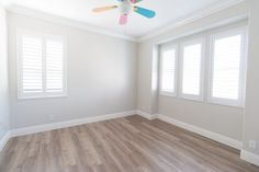 Today I'm sharing what we did upstairs in our home prior to moving in. Also sharing how we saved money on flooring and what we chose. Home, Interior Inspiration, Wall Color, Flooring, New Homes, Empty Room, A Thoughtful Place, Classic Tile, Interior Design Images