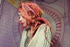 Image about pink in dreads-dreadlocks by Milica Dreadlock Hairstyles, Messy Hairstyles, Ombré Hair, Her Hair, Pastel Hair, Pink Hair, Pastel Pink, Hipster, Hair Inspo