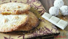 White Chocolate Raffaello Cookies