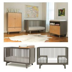 Oeuf Sparrow Crib - Eco-friendly Convertible Crib