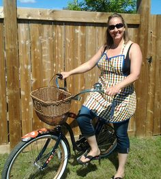 VINTAGE INSPIRED APRON in bright plaid by TwoSparrowsClothing, $38.00
