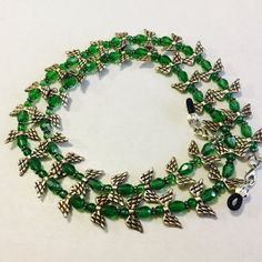 Green And Silver Angel Eyeglass Chain