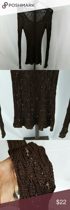 "Karen Millen beautiful crochet beaded tunic Gorgeous beaded tunic 32"" long from shoulder to hem Karen Millen Tops Tunics"