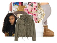 """No time for these birds"" by ayeeitsdessa ❤ liked on Polyvore featuring beauty, MAC Cosmetics, UGG Australia, Michael Kors, Casetify, Topshop and H&M"