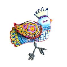 REGLE FLUTTER BIRD WITH CROWN Happy Shopping, Rooster, Fall Winter, Brooch, Crown, Buttons, Bird, Stuff To Buy, Collection
