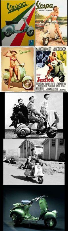 Scooter Vespa aparecería en público en la primavera de 1946...