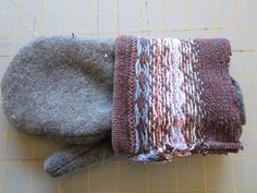 DIY sweater mitten making tutorial