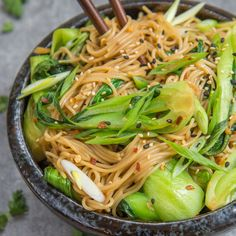 Looking for a quick dinner? These 15 minute sesame ginger noodles are vegan, gluten-free, and loaded with good for you ingredients!