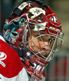 Carey Price - Montreal Canadiens - NHL Goalie Masks by Team - Photos… Hockey Helmet, Hockey Goalie, Ice Hockey, Football Helmets, Montreal Canadiens, Goalie Mask, Nhl News, Cool Masks, Masked Man