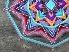 Balance Mandala, Ojo de Dios, 15 inches, Boho wall hanging, Boho wall art, Bohemian decor, Ready to Ship by YoleMandalas on Etsy