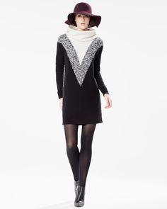 RW&CO. | Stockholm's Way | Fall 2015 | Cowl neck sweater dress