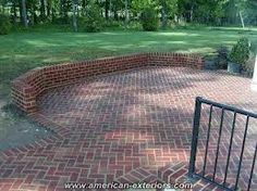brick walled patio Patio Design That Leverages Brick This is a