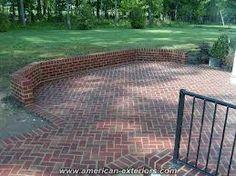 brick patio designs google search - Brick Patio Wall Designs